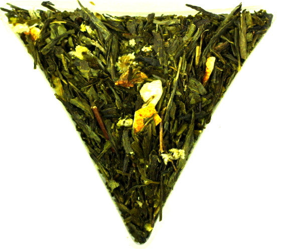 Sencha Spring Melody Loose Leaf Green Tea Gently Stirred