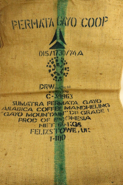 Hessian Coffee Sack From Sumatra Previously Held Green Beans Many Uses