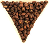 Tanzania Kilimanjaro Yetu Tamu Peaberry Whole Bean Coffee Gently Stirred