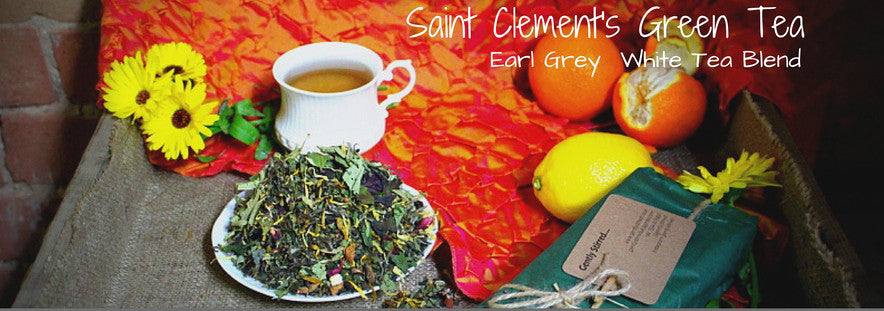 Saint Clements tea and loose leaves