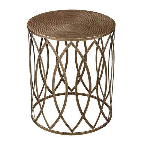 Annabelle Home Antique Gold Accent Table