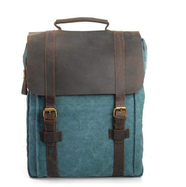 Artisanal Bags Dark Cyan Bike Canvas Backpack