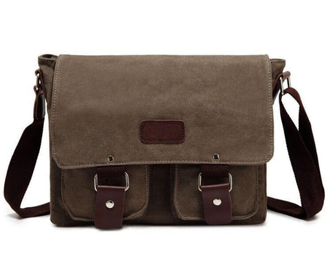 Artisanal Bags Dark Khaki Canvas Messenger Bag - Multiple Colors