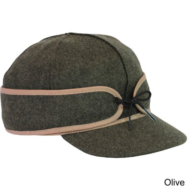 Artisanal Bags Olive Retro Wool Cap - Multiple Colors