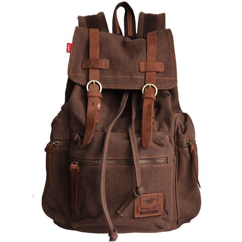Artisanal Bags Saddle Brown Canvas Backpack - Multiple Colors