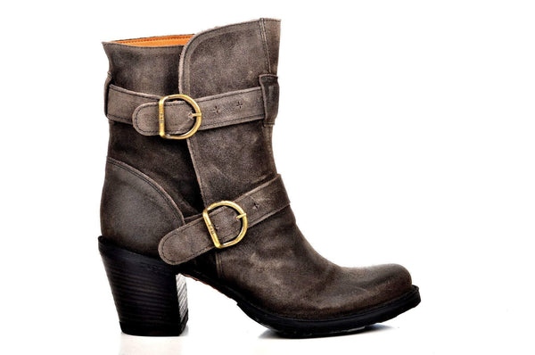 Bootland Boots 5 / Dark Gray Tall Leather Booties 2 Colors