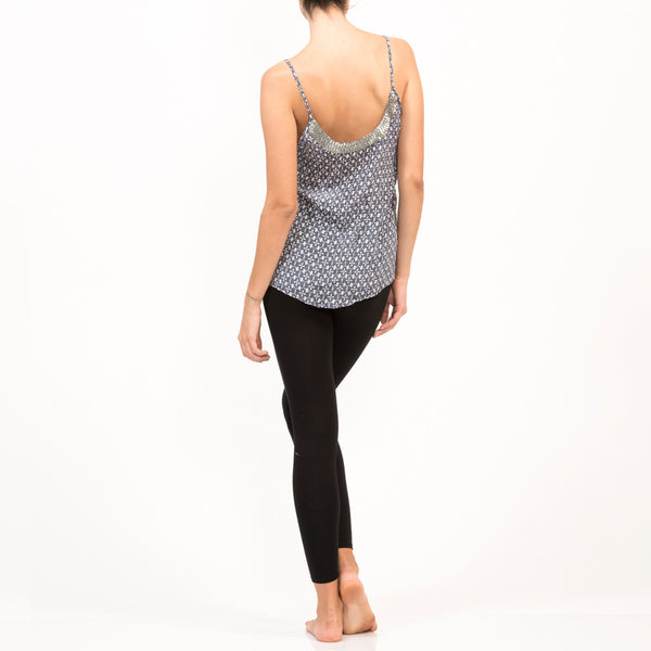 Tank Silk Nalki Beaded Top