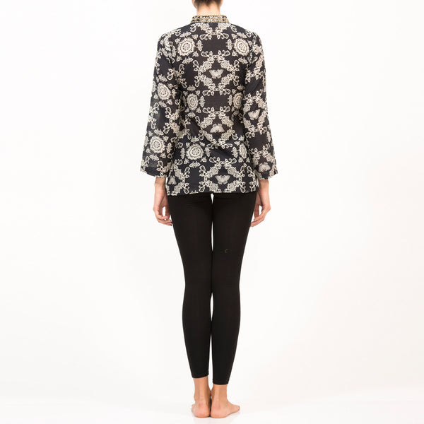 Zardosi Butterfly Silk Top