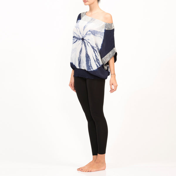 Romaine Tye Dye Silk Top