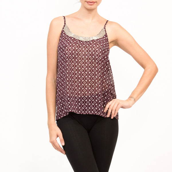 Tank Silk Jalli Top