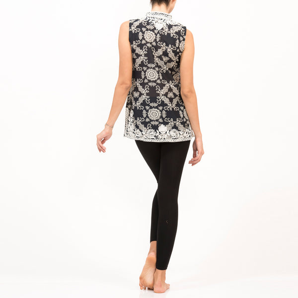 Butterfly Silk Sleeveless Top