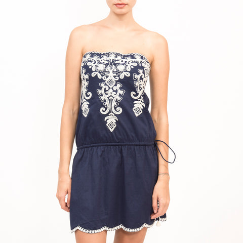 Goddess Cotton Short Dress - NAVY, BLACK, WHITE