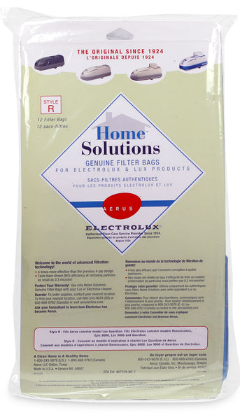 Aerus And Electrolux Style R Home Solutions Filter Bags