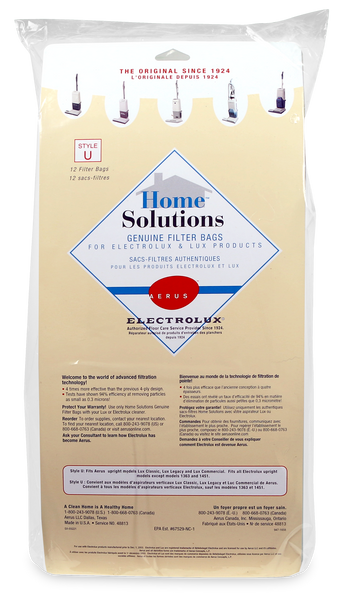 Aerus And Electrolux Style U Home Solutions Filter Bags