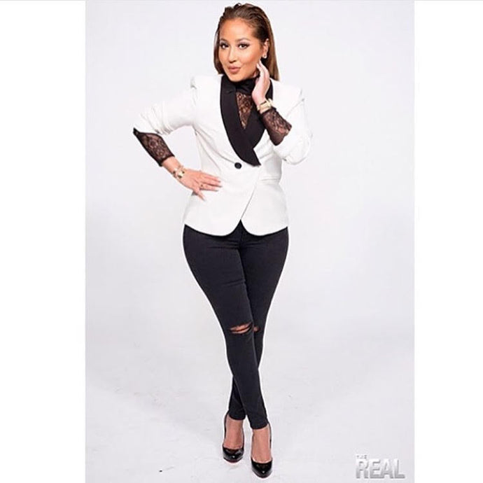 THE REAL DAYTIME HOST ADRIENNE BAILON IN JESSICA RICH COLLECTION
