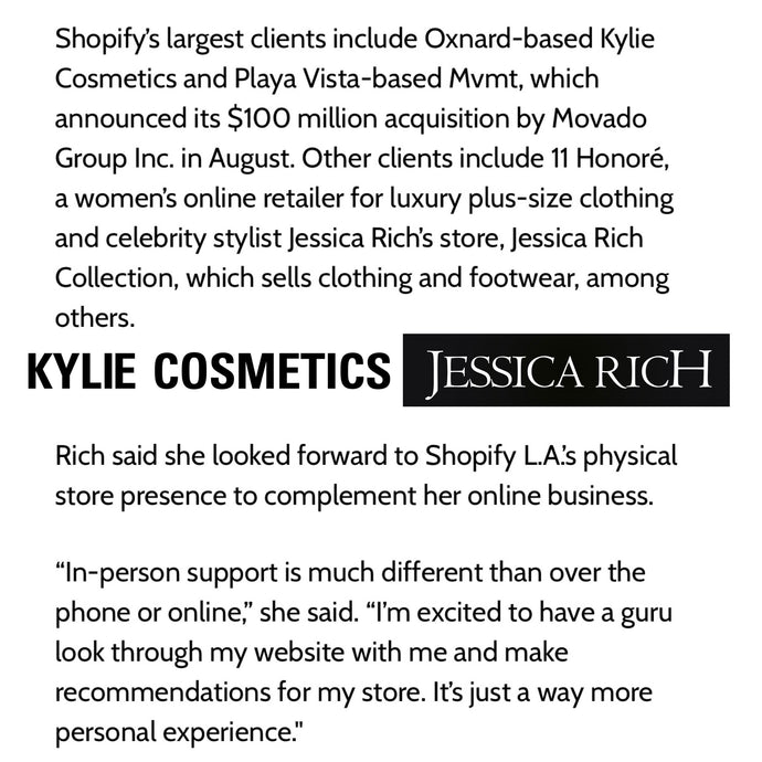 JESSICA RICH FEATURED IN LA BUSINESS JOURNAL