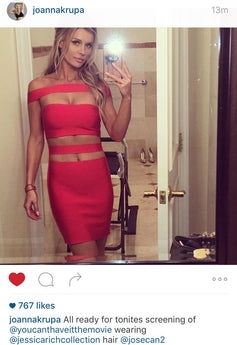MODEL TV PERSONALITY JOANNA KRUPA IN JESSICA RICH COLLECTION