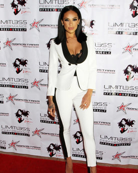 VH1 STAR ERICA MENA IN JESSICA RICH COLLECTION