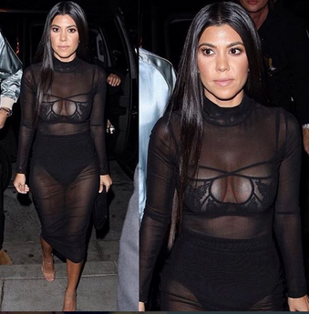 KOURTNEY KARDASHIAN IN THE KOURT MESH DRESS