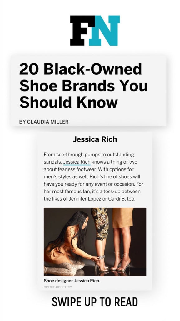 "JESSICA RICH "" TOP 20 AFRICAN AMERICAN BRAND "" SAYS FOOTWEAR NEWS"