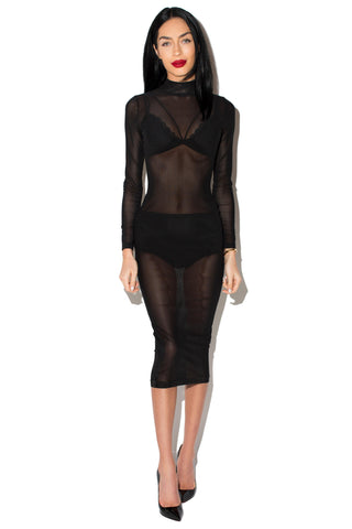 KOURT MESH DRESS - Jessica Rich Collection