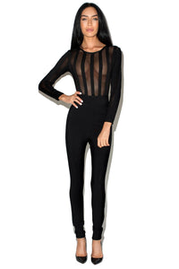 BONJOUR JUMPSUIT BLACK - Jessica Rich Collection