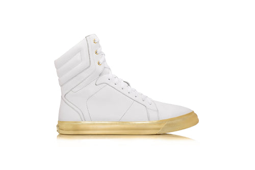 GOLDEN SOULS MENS HIGHTOP WHITE
