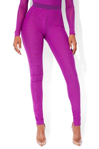 MESH PANTS PURPLE