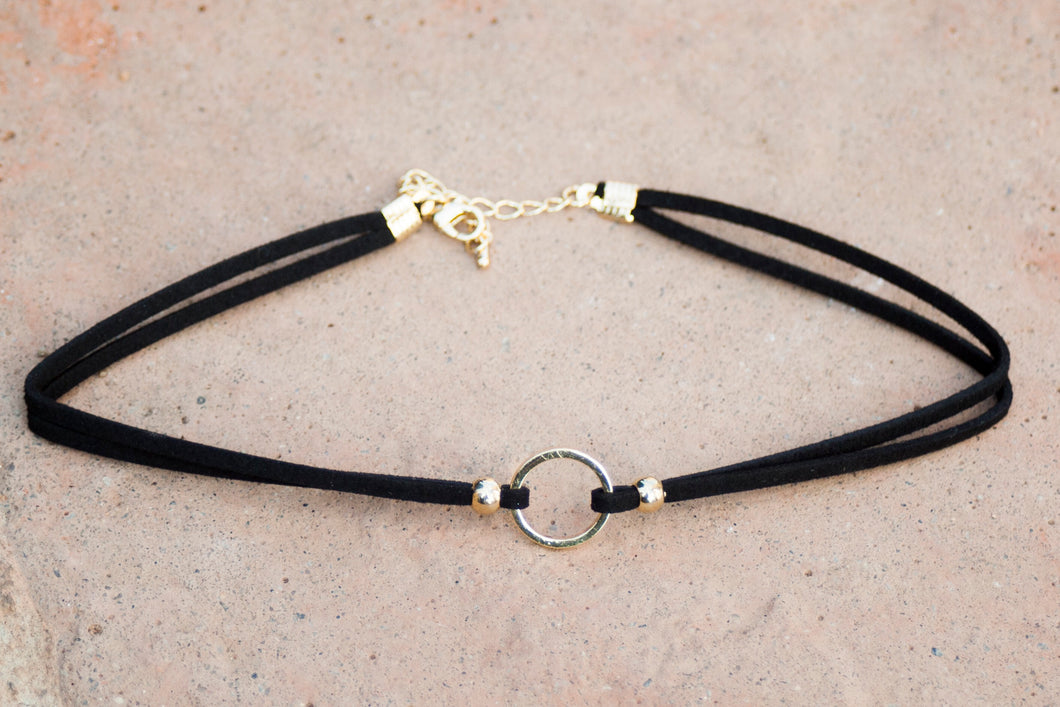Black and Gold Choker