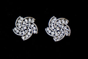 Swirl Diamanté Earrings