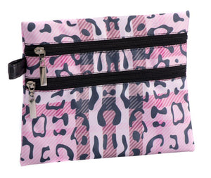 CARAMIA DOUBLE ZIP COSMETIC CASE-PAWBERRY