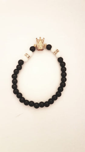 Bracelet with Stylish Crown Charm