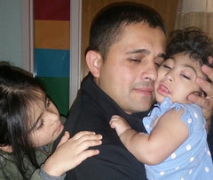 Rony Morales and daughters