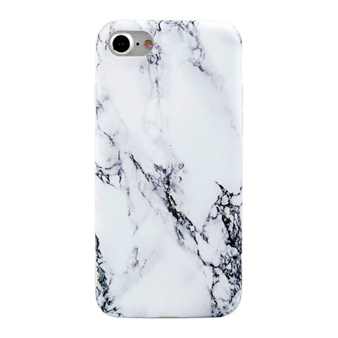 iPhone 7 / 7+ Black and White Marble Case - marble iphone case