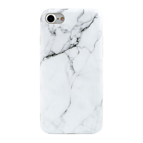 iPhone 7/7+ White Marble Case - marble iphone case