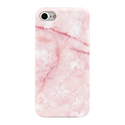 iPhone 7 / 7+ Pink Marble Case - marble iphone case