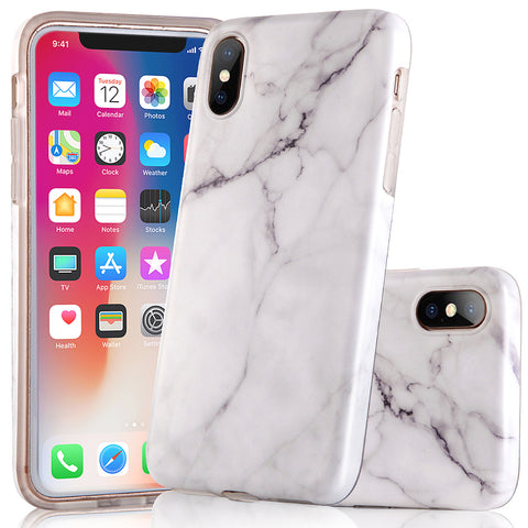 iPhone X White Marble Case - 2017