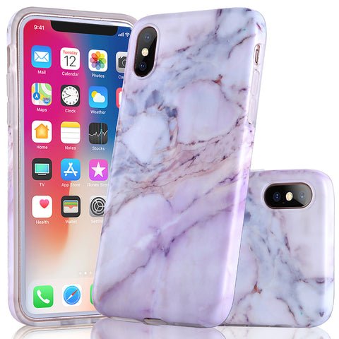 iPhone X Natural Purple Marble Case - 2017 - marble iphone case