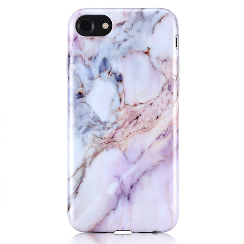 iPhone 7 / 8 Natural Purple Marble Case - 2017 - marble iphone case