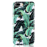 iPhone 7 Plus, iPhone 8 Plus Banana Palm Leave Case - 2017 - marble iphone case