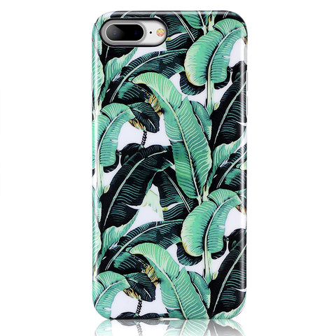 iPhone 7 Plus, iPhone 8 Plus Banana Palm Leave Case - 2017
