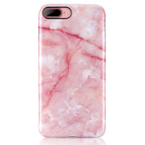iPhone 7 Plus, iPhone 8 Plus Pink Marble Case - 2017 - marble iphone case