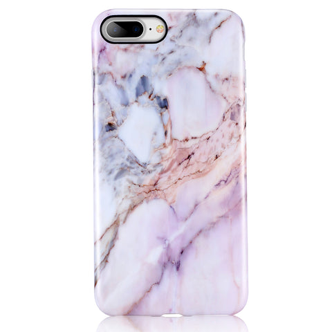 iPhone 7 Plus, iPhone 8 Plus Natural Purple Marble Case - 2017