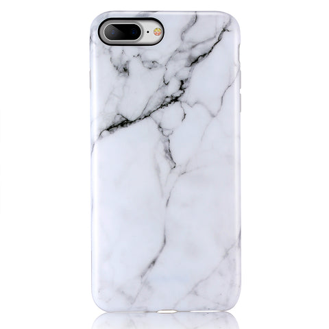 iPhone 7 Plus, iPhone 8 Plus White Marble Case - 2017