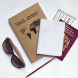 White Marble Passport Holder - marble iphone case