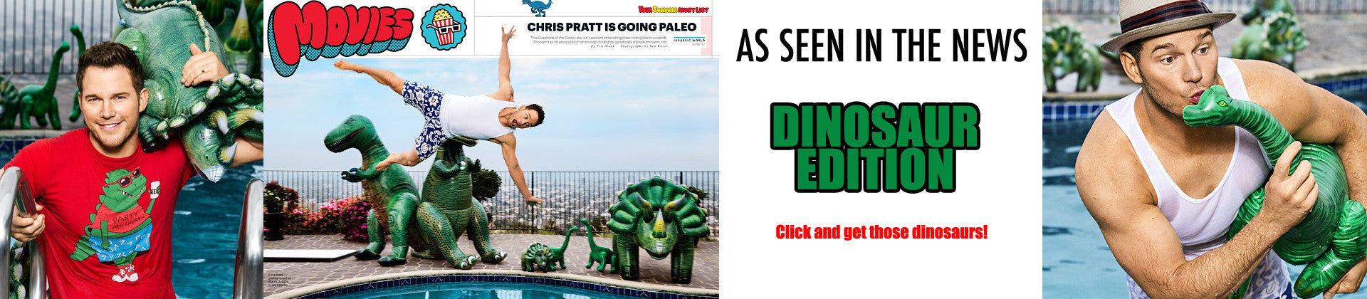 Jet Creations dinosaurs are been seen in the recent Jurassic Park movie inverview on EW! Click and get those dinosaurs in the show!