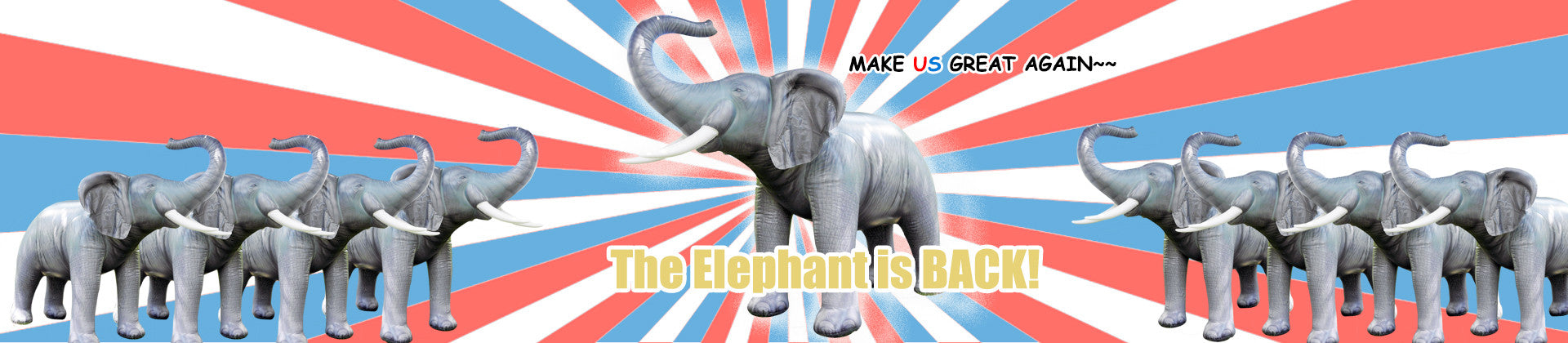 The famous Jet Creations LIFELIKE Elephant is back NOW!