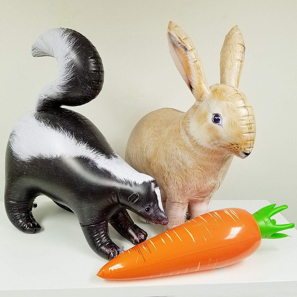 Inflatables Rabbit Carrot Skunk 3 Pack Great for Pool, Party Decoration, AN-RCS