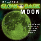 Inflatable Glow in the Dark Moon - 12 inch Dia.