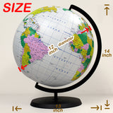 Deluxe Inflatable Desktop Globe, 12 inch – with stand [GTO-12GOBX]